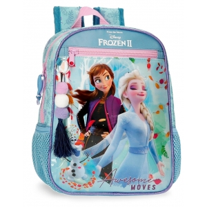 Mochila Frozen Awesome Moves Preescolar 28cm Adaptable