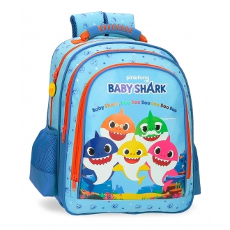 Mochila Escolar Baby Shark Doble Compartimento