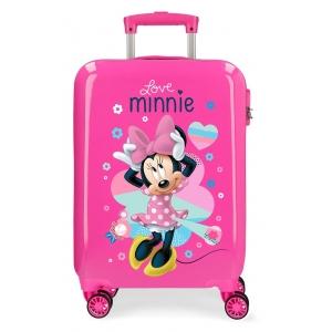 Maleta de cabina rígida Love Minnie Rosa
