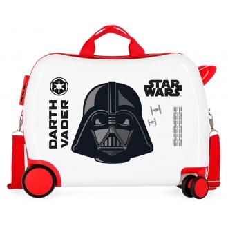 Maleta infantil 2 ruedas multidireccionales Star Wars Darth Vaider Blanco
