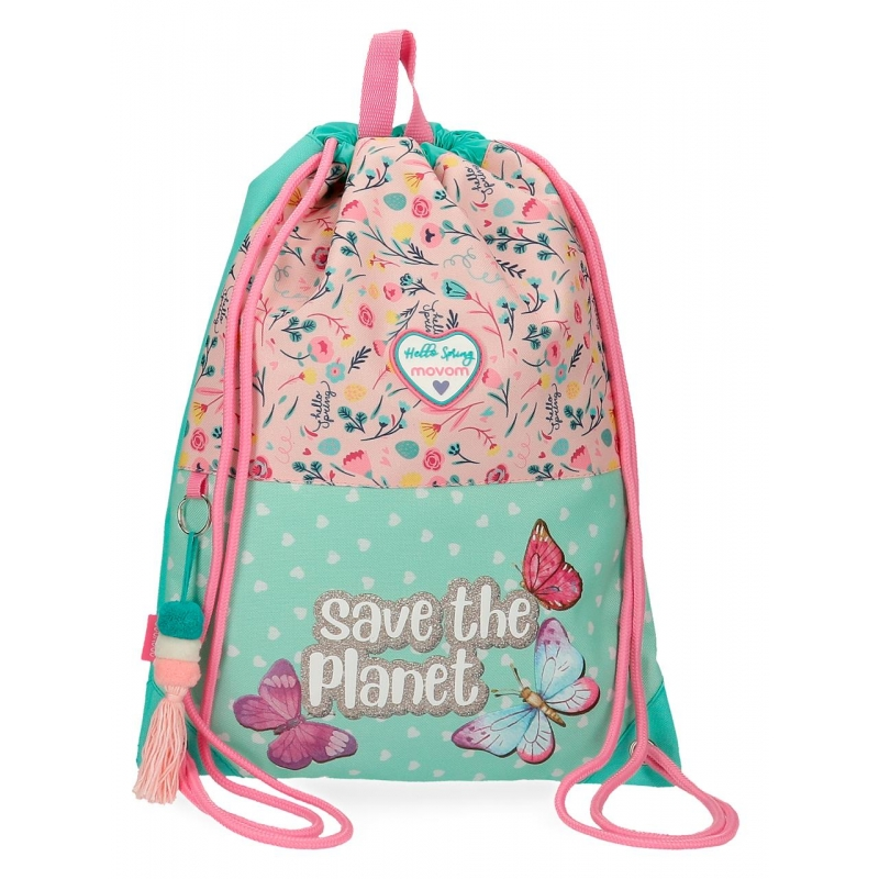 Mochila saco Movom Save the Planet