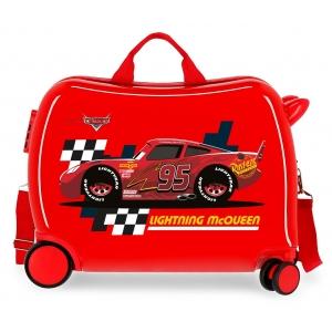 Maleta infantil 2 ruedas multidireccionales McQueen Roja