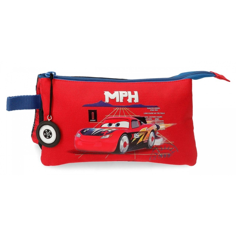 Estuche Cars Rocket Racing Tres Compartimentos