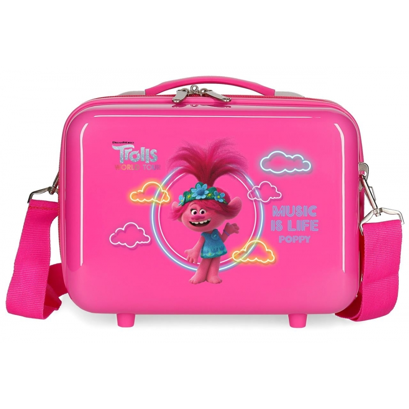 Neceser ABS Trolls Music is Life Adaptable Fucsia