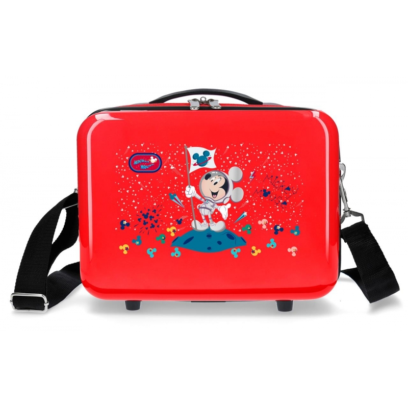 Neceser ABS AdaptableMickey on the Moon Rojo