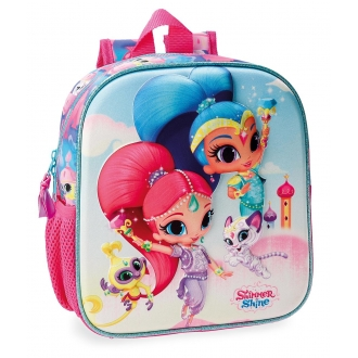 Mochila Preescolar Shimmer and Shine Twinsies 25cm Frontal 3D