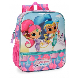 Mochila Preescolar Shimmer and Shine Twinsies 28cm adaptable a carro