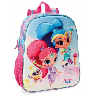 Mochila Preescolar Shimmer and Shine Twinsies 33cm Frontal 3D