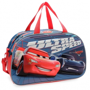 Bolsa de viaje Cars Ultra Speed 45cm frontal 3D