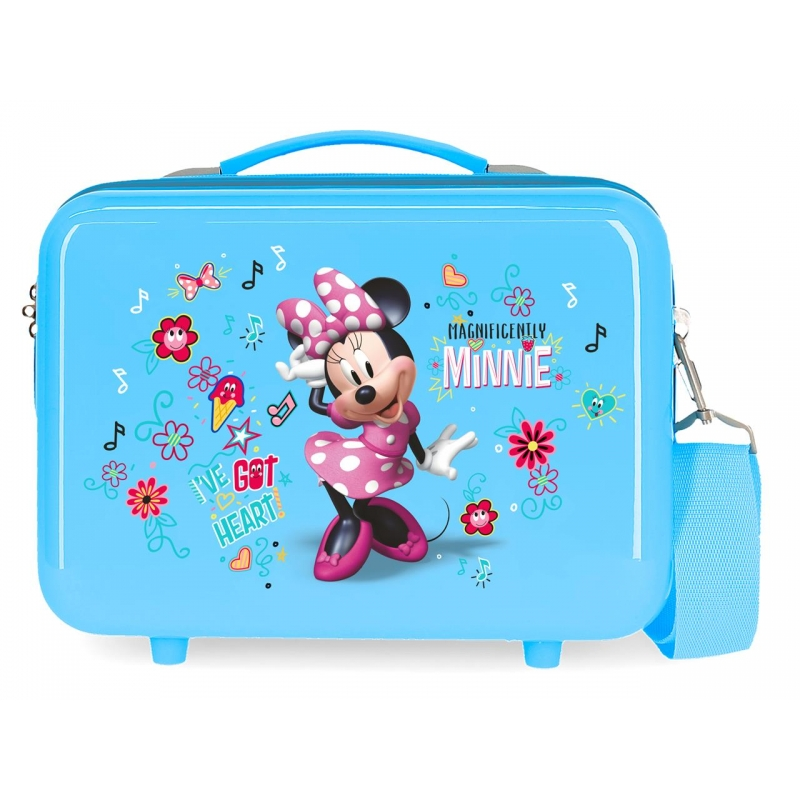 Neceser ABS Enjoy Minnie Heart Adaptable Azul