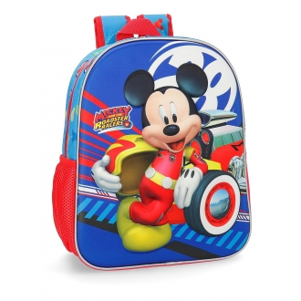 Mochila 33cm frontal 3D World Mickey