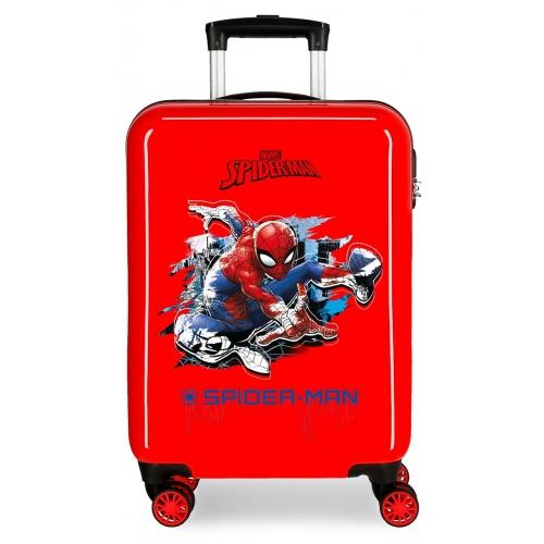 Maleta de cabina rígida Spiderman roja