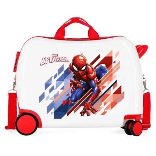 Maleta infantil 2 ruedas multidireccionales Spiderman Geo