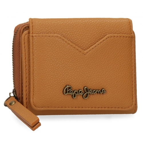 Billetero Pepe Jeans India con monedero ocre