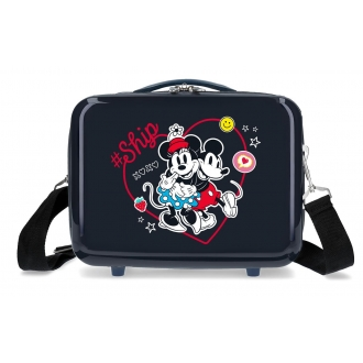 Neceser ABS Mickey & Minnie Ship Always Be Kind Adaptable Marino