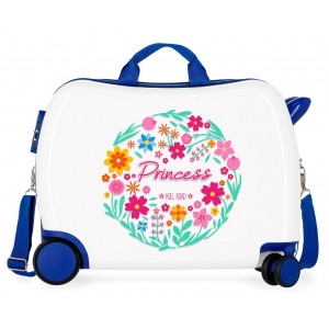 Maleta infantil 2 ruedas multidireccionales Little Me Princess Azul
