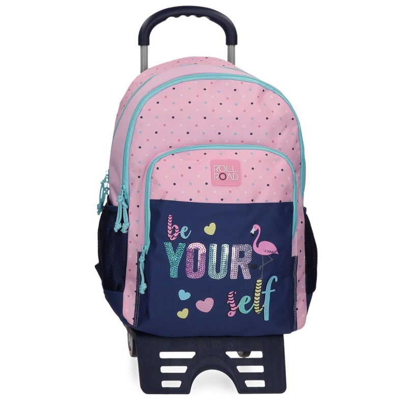 Mochila Doble Compartimento Roll Road Be yourself con Carro