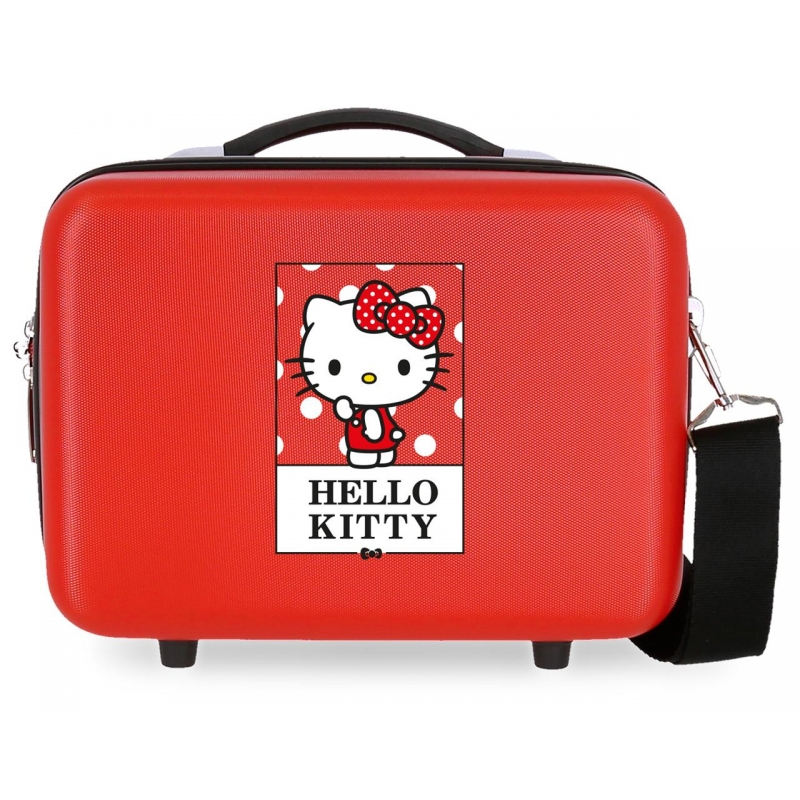 Neceser ABS Bow of Hello Kitty adaptable a trolley Roja