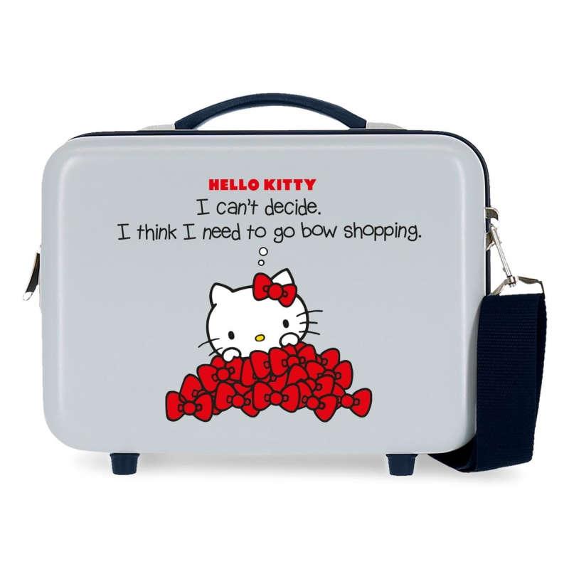 Neceser ABS Bow of Hello Kitty adaptable a trolley Azul