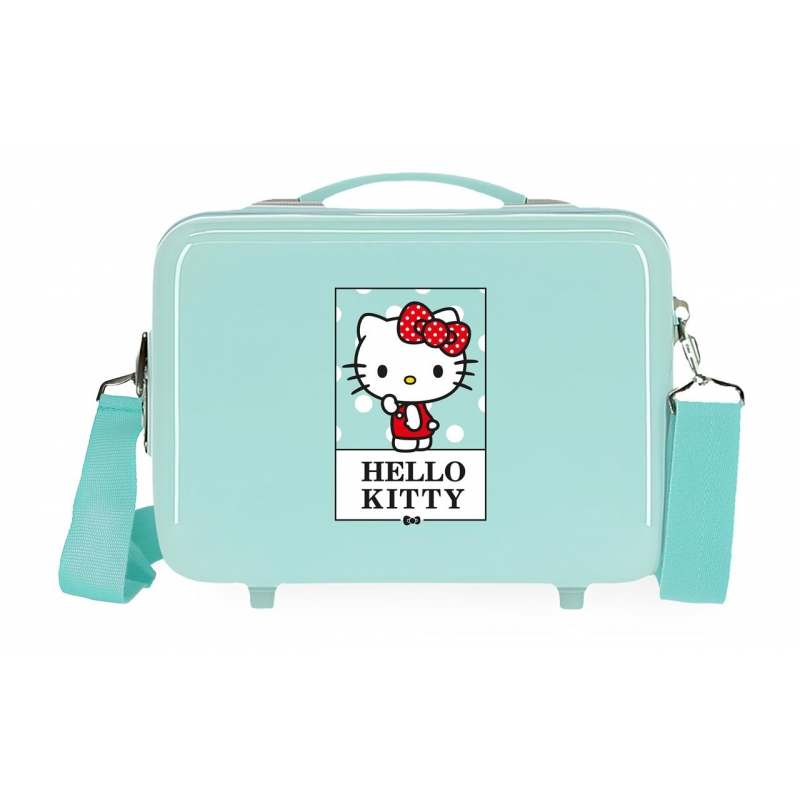 Neceser ABS Bow of Hello Kitty adaptable a trolley Turquesa