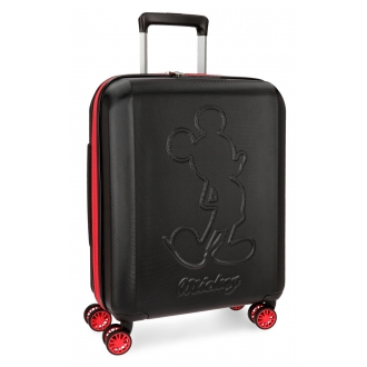 Maleta de cabina Mickey Colored rígida 55cm negra