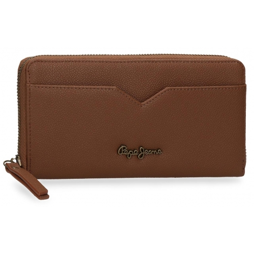 Cartera con cremallera Pepe Jeans India Marrón