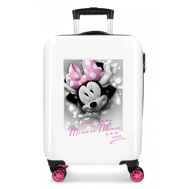Maleta de cabina Minnie Style with love rígida 55cm