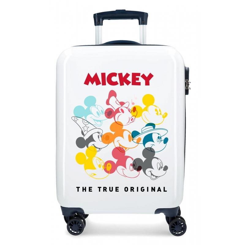 Maleta de cabina rígida Mickey Magic caras