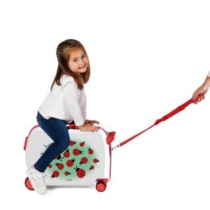 Maleta infantil 2 ruedas multidireccionales Movom Mariquitas