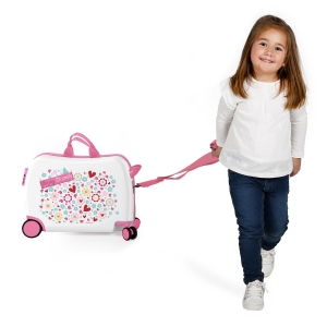 Maleta infantil 2 ruedas multidireccionales Movom Enjoy and Smile