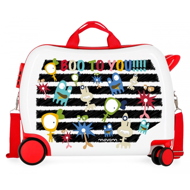 Maleta infantil 2 ruedas multidireccionales Movom Boo to You