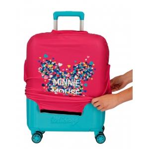 Funda para maleta de cabina Minnie fucsia