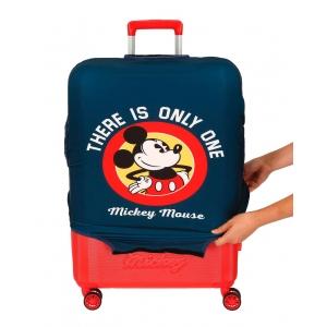 Funda para maleta mediana Mickey azul