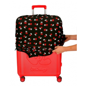 Funda para maleta mediana Minnie negra