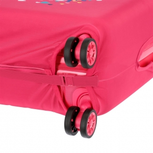 Funda para maleta mediana Minnie fucsia