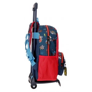 Mochila 28cm con carro Spiderman Pop