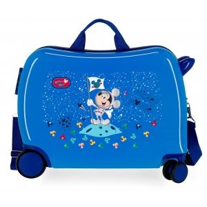 Maleta Infantil Mickey On the Moon 2 ruedas multidireccionales Azul