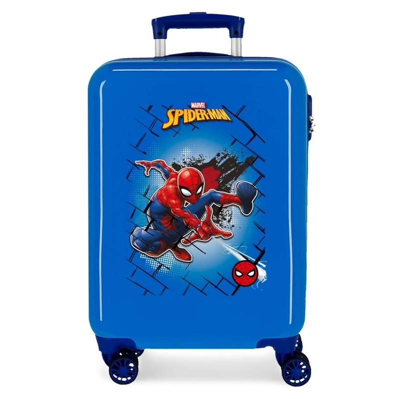 Maleta de Cabina Spiderman Red rígida 55cm Azul
