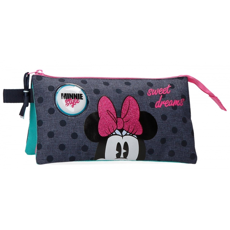 Estuche Sweet Dreams Minnie Tres Compartimentos