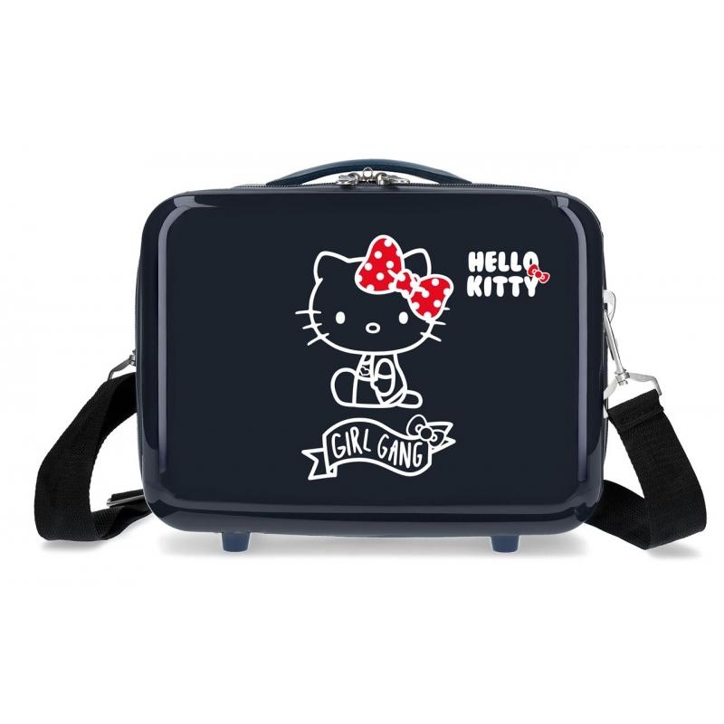 Neceser ABS Girl Gang Hello Kitty adaptable a trolley Azul Marino