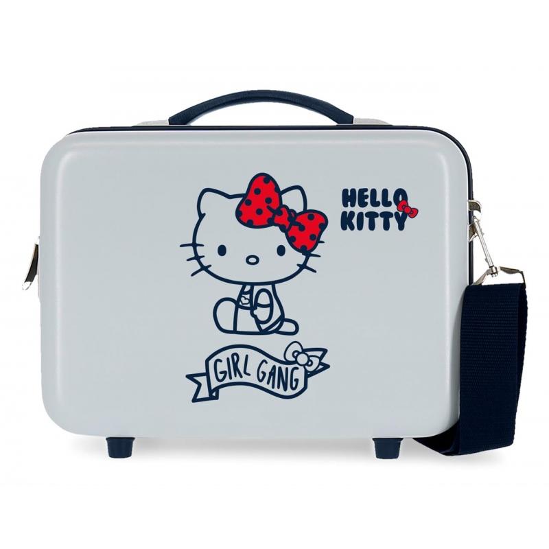 Neceser ABS Girl Gang Hello Kitty adaptable a trolley Azul Claro