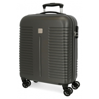 Maleta de cabina Roll Road India Rígida 55cm Antracita
