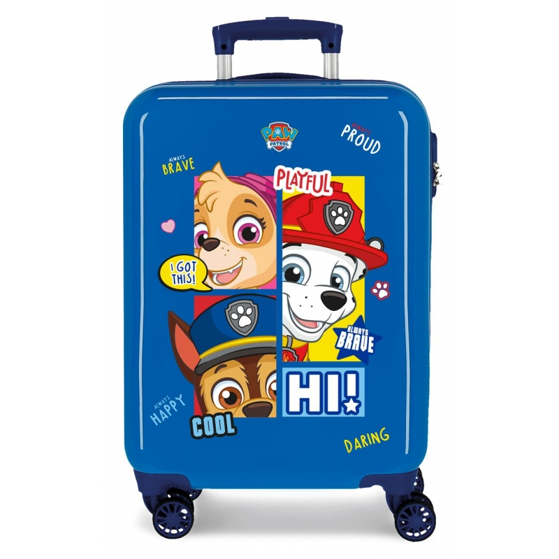 Maleta de Cabina Patrulla Canina Be Happy rígida 55cm Azul