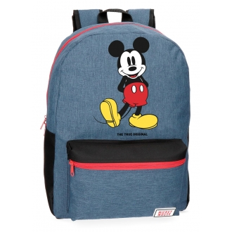 Mochila Mickey Blue 42cm adaptable a carro