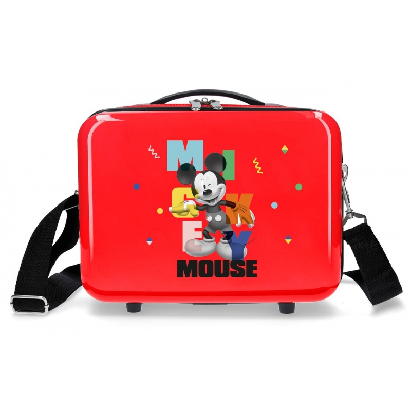 Neceser ABS Mickey´s Party Rojo