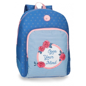 Mochila escolar 44cm Roll Road Rose