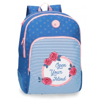 Mochila doble compartimento 44cm Roll Road Rose