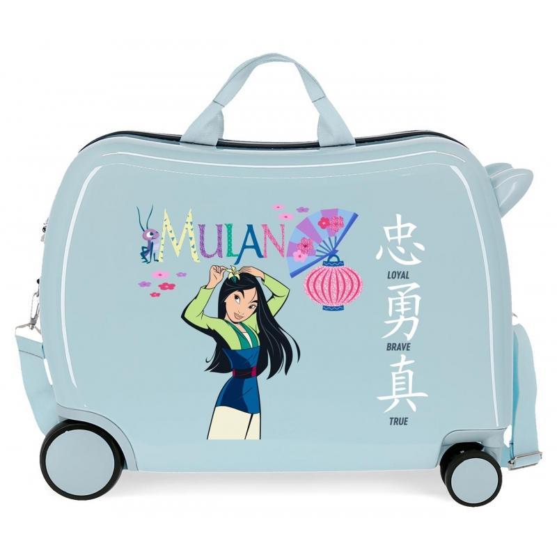 Maleta infantil 2 ruedas multidireccionales Mulan Princess Celebration
