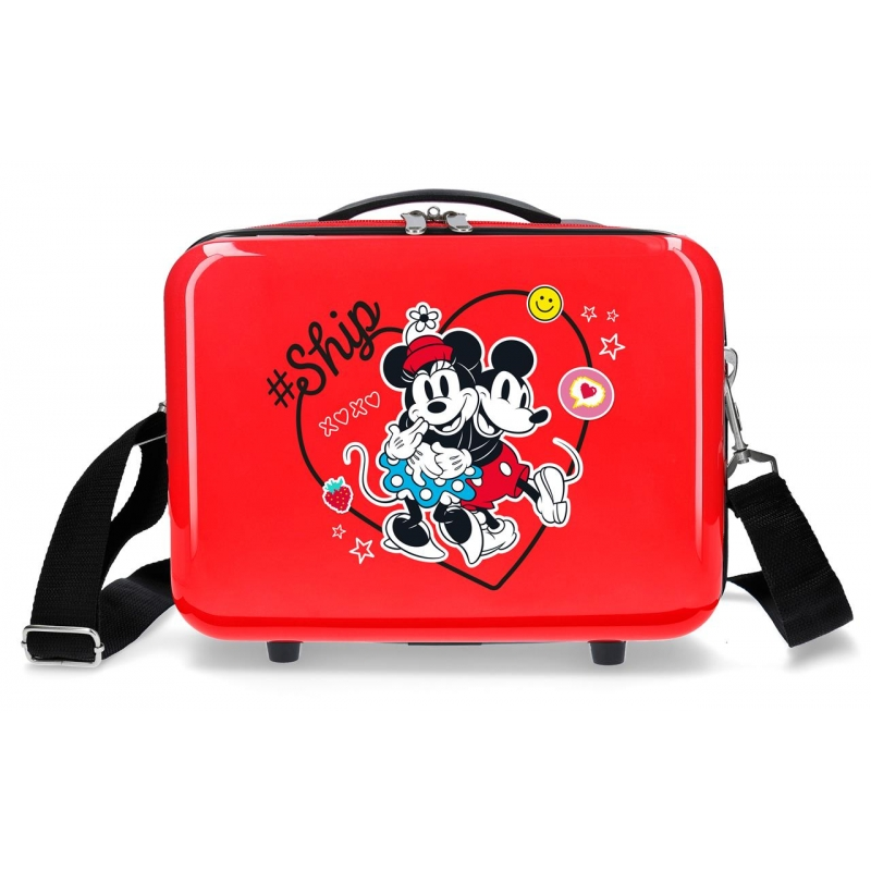 Neceser ABS Mickey & Minnie Ship Always Be Kind Adaptable Rojo