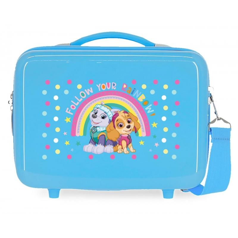 Neceser ABS Patrulla Canina Follow your rainbow Adaptable Azul